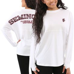 Women's Florida State Seminoles White Aztec Sweeper Long Sleeve ...