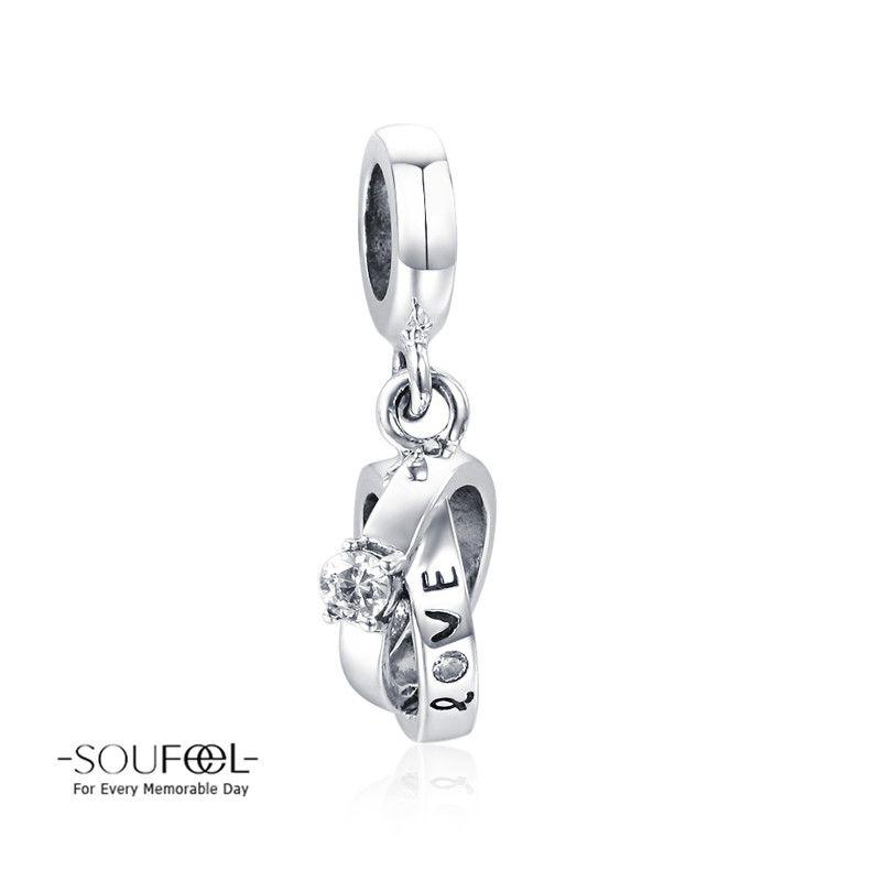 Soufeel Wedding Rings Dangle Charm 925 Sterling Silver Compatible All Brands Basic Bracelet For