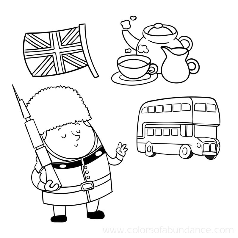 coloring pages on england - photo#26