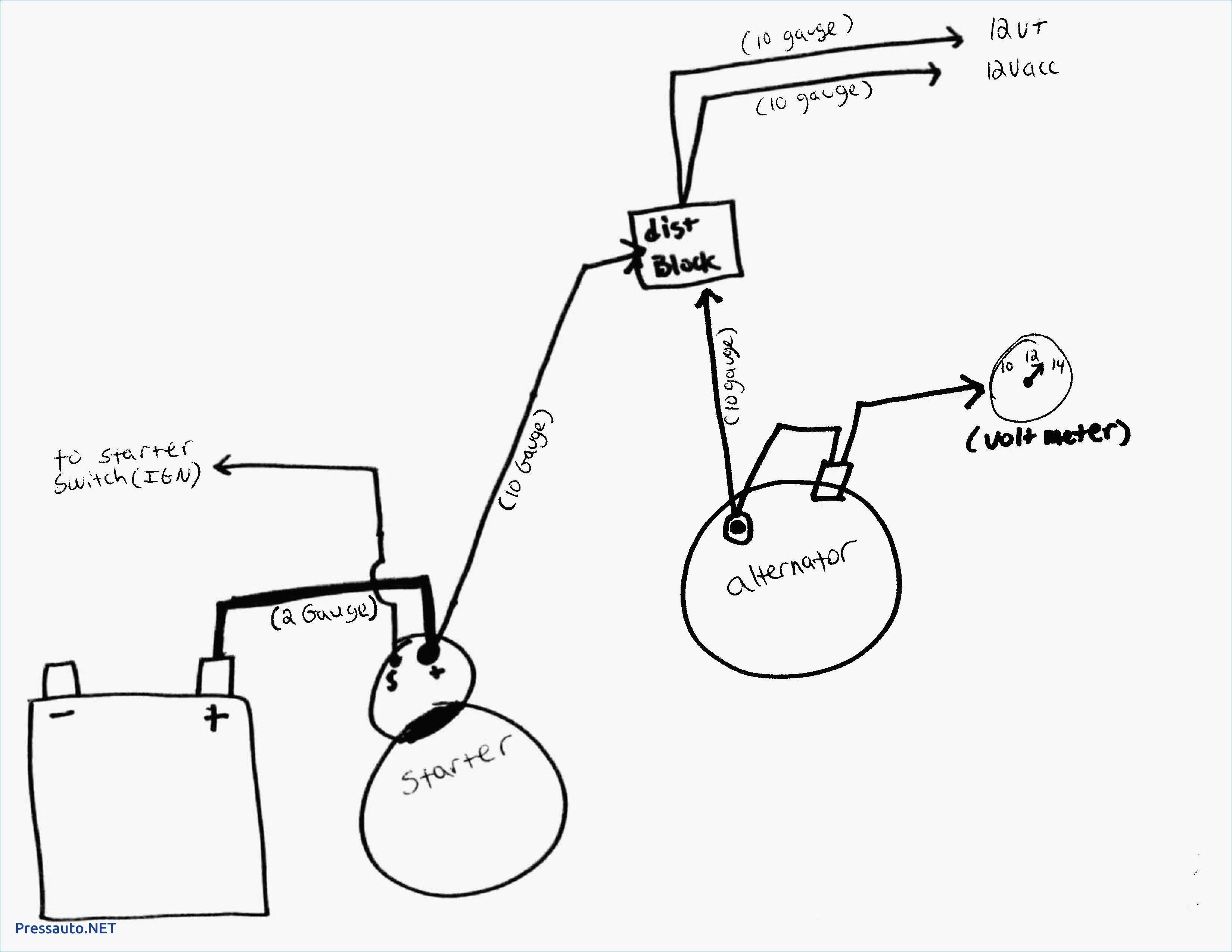 3 Wire Delco Alternator Wiring Diagram The 10