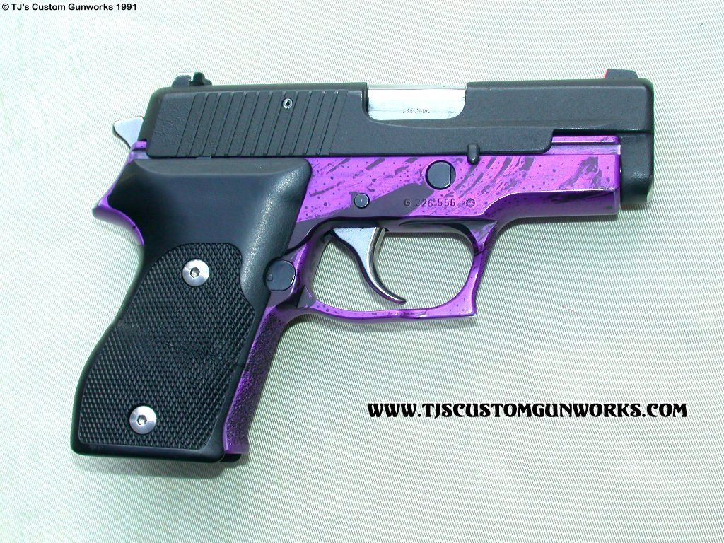 Custom Cutdown Sig Sauer P220 .45 Purple | Don't Mess with ...