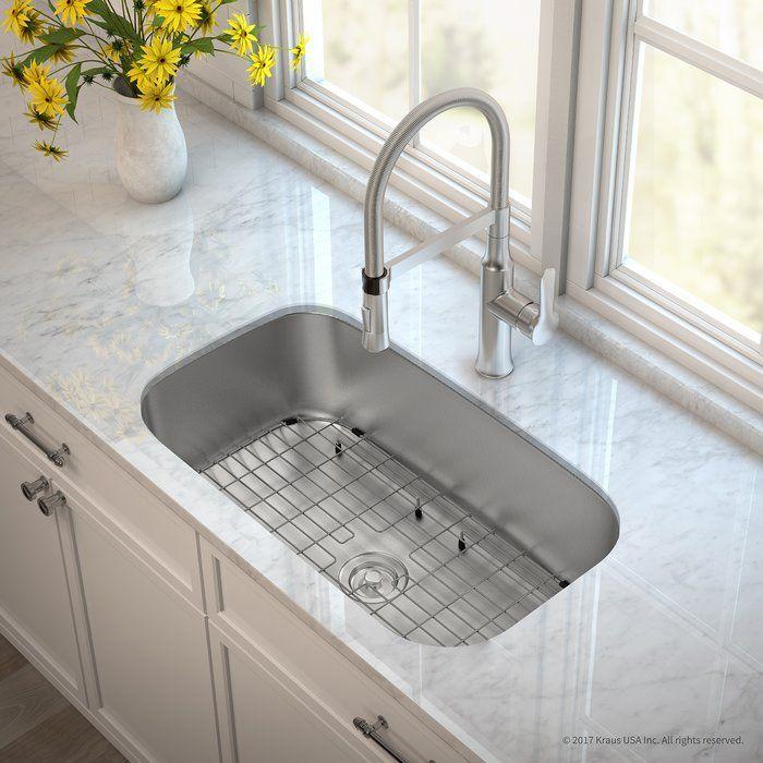 "Kitchen Sink In Island: Outlast MicroShield™ Stainless Steel Real 16 Gauge 31.5"" X"