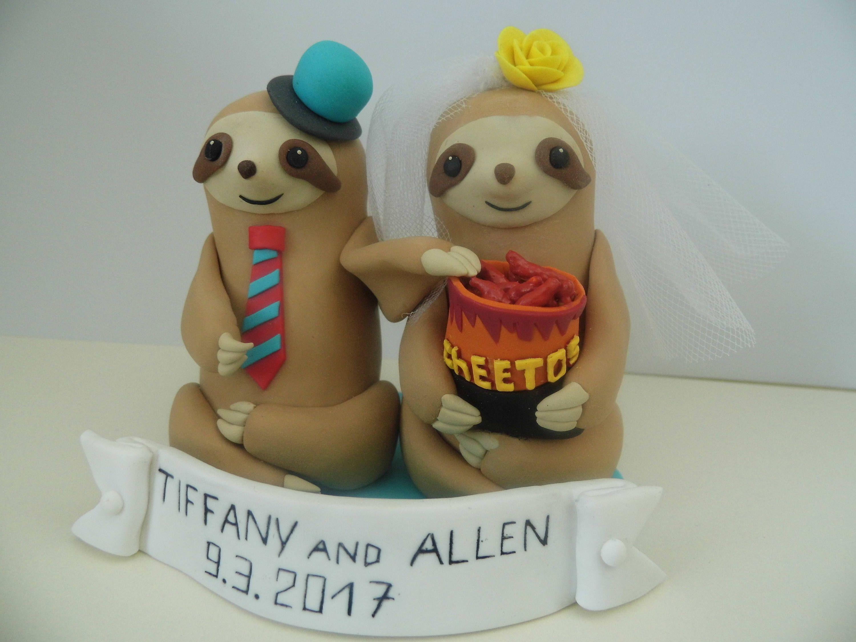 Sloth Wedding Cake Topper Gift Decoration Custom By Figuresanya On