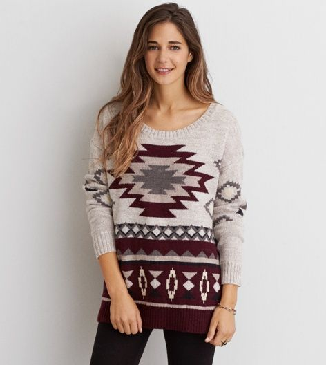 AEO Lace-Up Back Cardigan | Sweaters and Burgundy