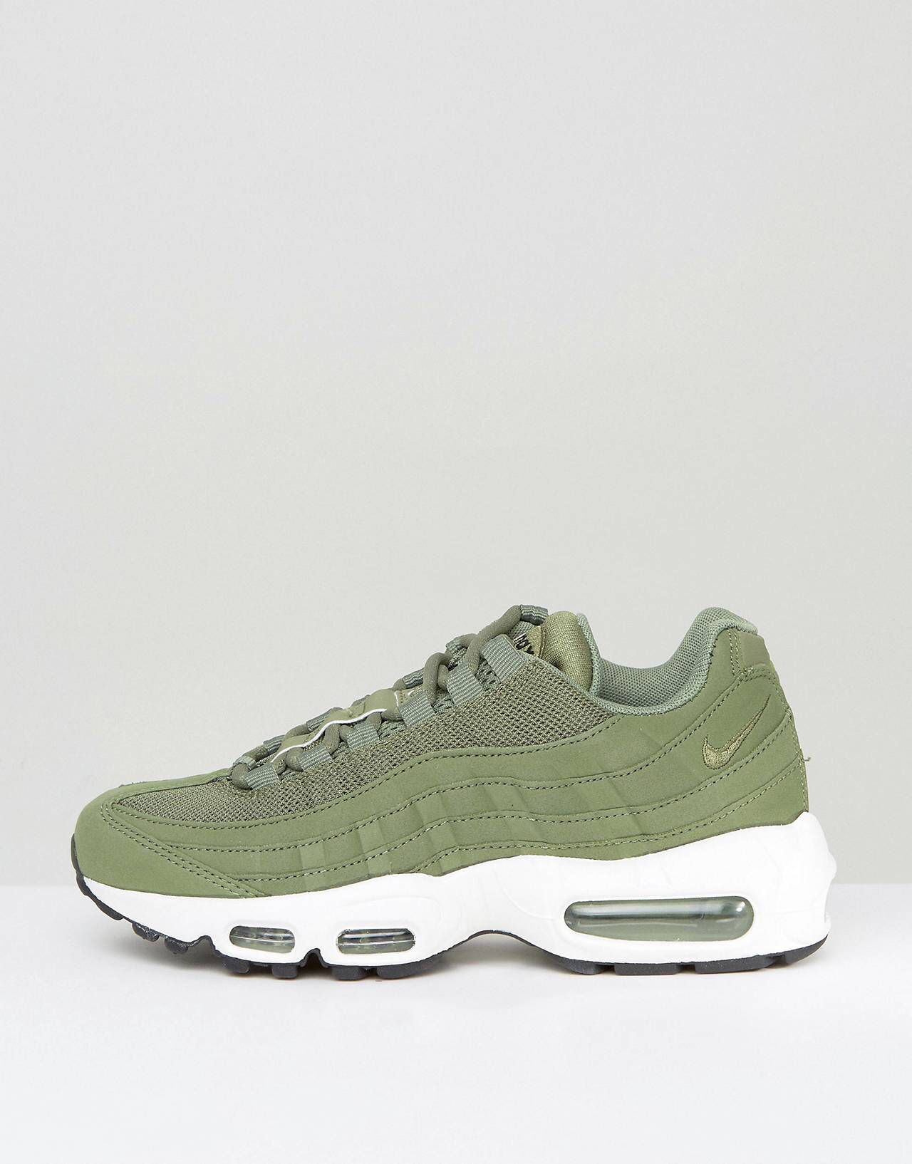 separation shoes 50df9 6cf61 Shop Nike Air Max 95 Trainers In Khaki at ASOS.