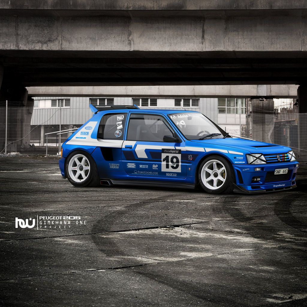 Peugeot 205 T16 Gymkhana By Hossworks On Deviantart Peugeot Car Volkswagen Race Cars