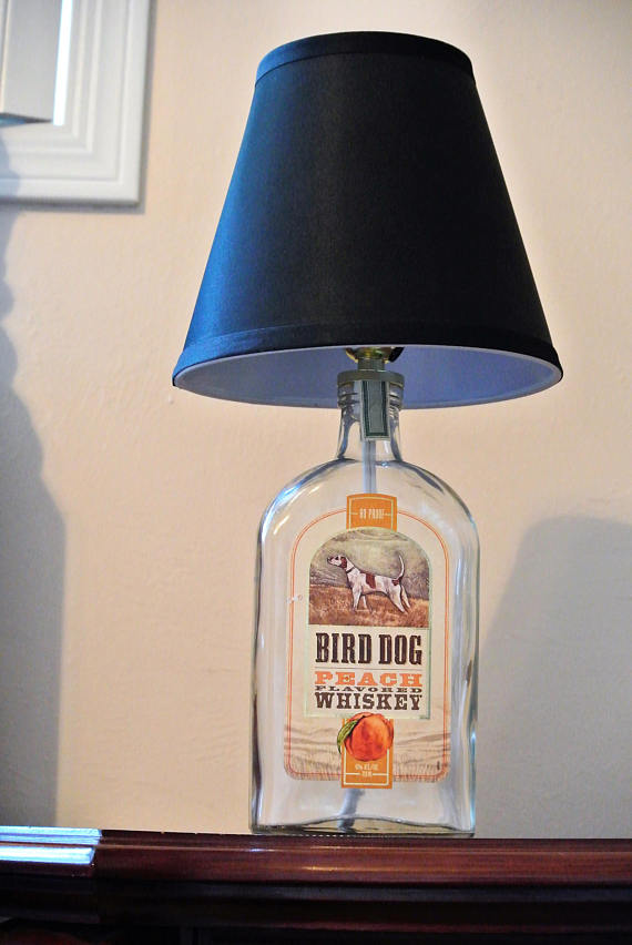Bird Dog Gl Bottle Lamp Liquor Man Cave