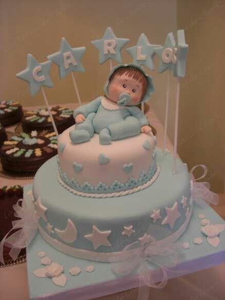 Pin By Margarita Bastidas On Decoracion Para Bautizo Baby Shower Cakes For Boys Torta Baby Shower Baby Boy Christening Cake