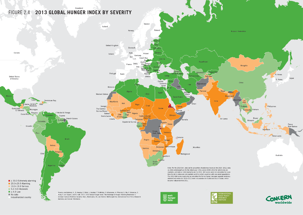 Map: The World's Most Hungry Countries | What is poverty ... Global Poverty Map on global australia map, global literacy map, foreign policy map, global christianity map, suburban sprawl map, climate change map, global market map, global fraud map, global finance map, global co2 emissions map, global power map, global cancer map, global depression map, global productivity map, global aging map, developing countries map, global hiv map, global racial map, global famine map, global peace map,