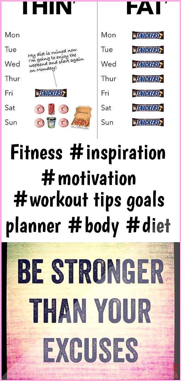 Fitness inspiration motivation workout tips goals planner body diet 59 Fitness inspiration motivatio...