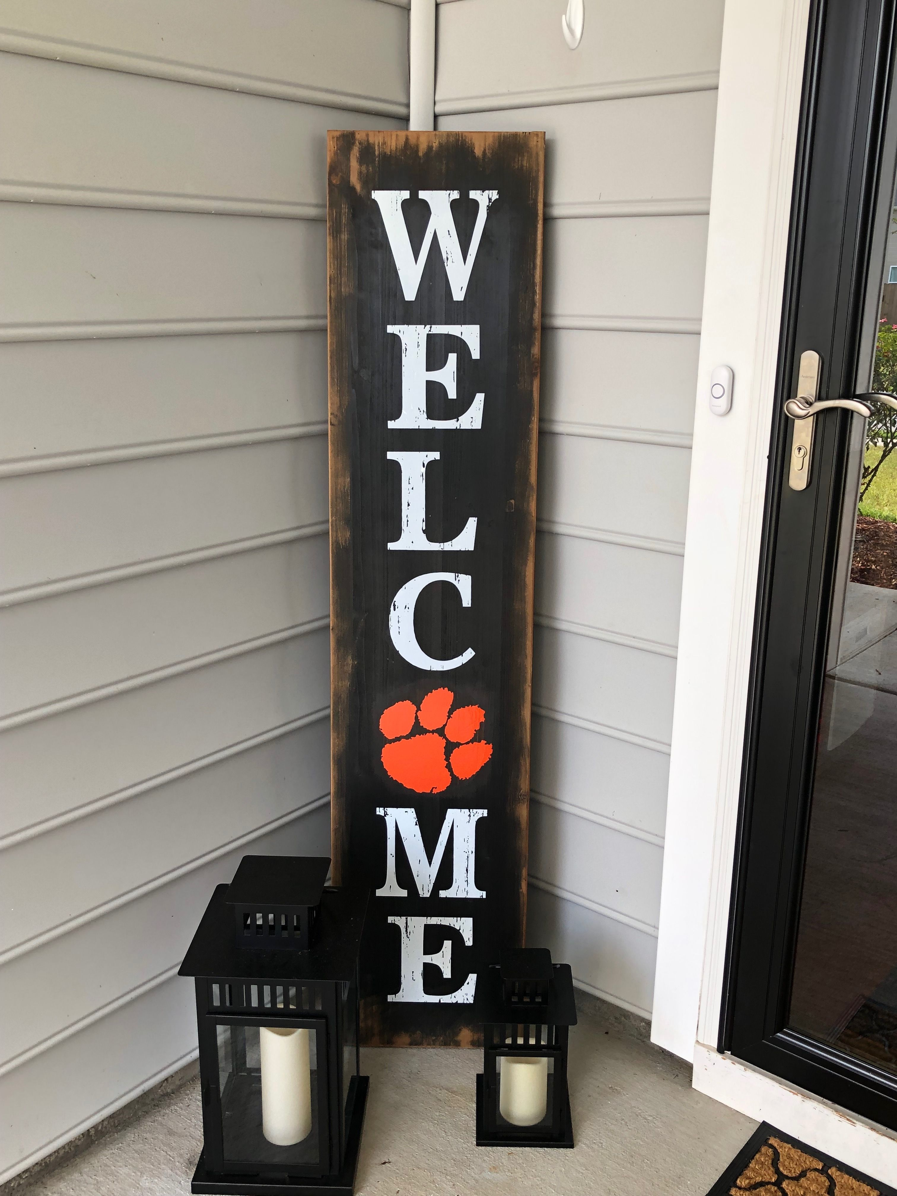 Simple Clemson Welcome Sign Hobby Lobby Hack Clemson Decor Clemson Crafts Tailgate Decorations