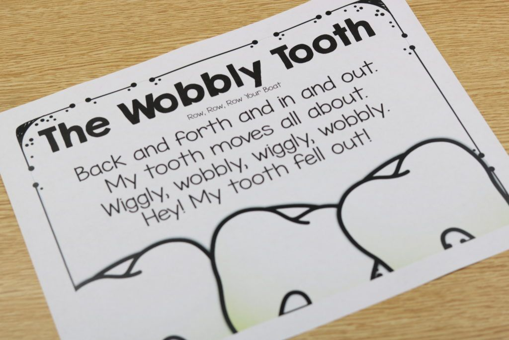 February Step By Step Dental Heath Loose Tooth Teeth Kindergarten