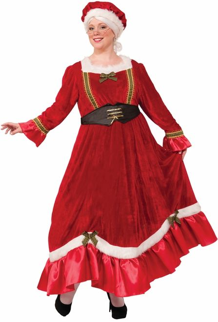 Plus Size Christmas Costumes.Mrs Claus Classic Christmas Costume Plus Size Santa Mrs