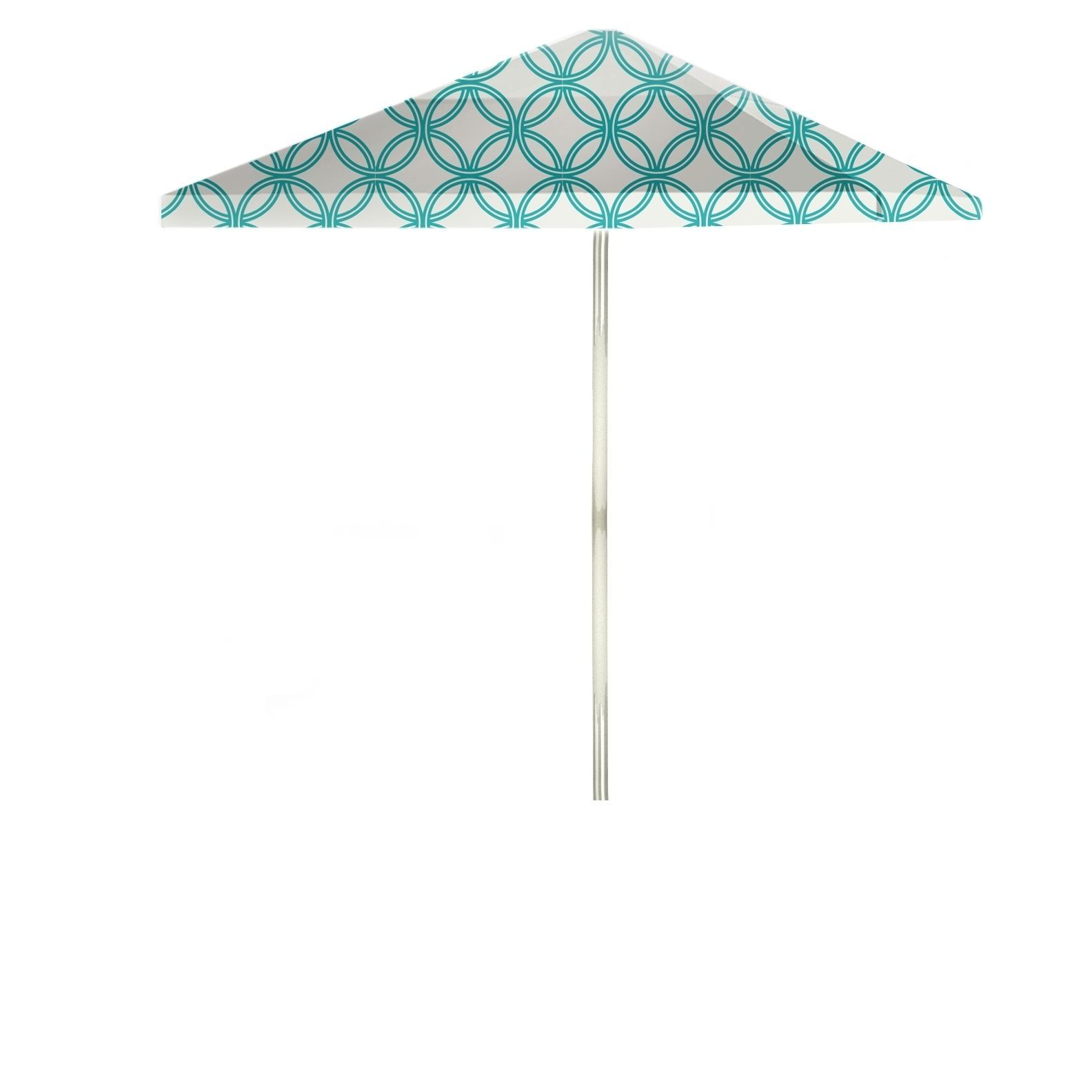 Best of Times Eternity Circles 8 foot Patio Umbrella Teal & White