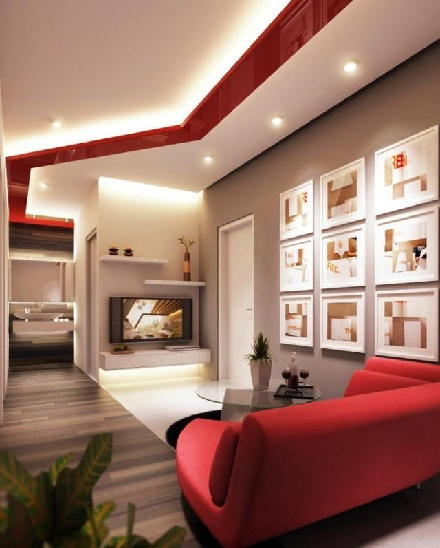 Wonderful 45 Inspiring Red And White Living Room Designs