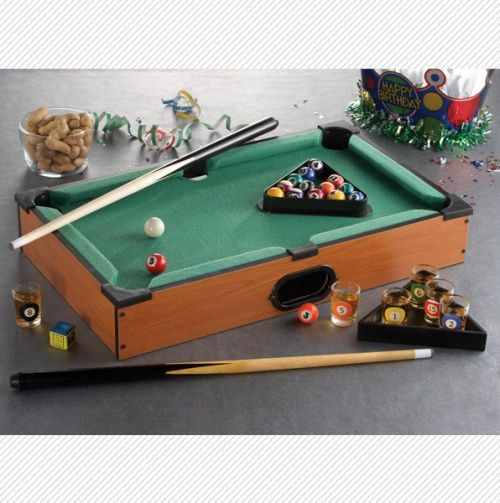 Shot Glass Pool Tabletop Game Set  | Men's Corner | Pool