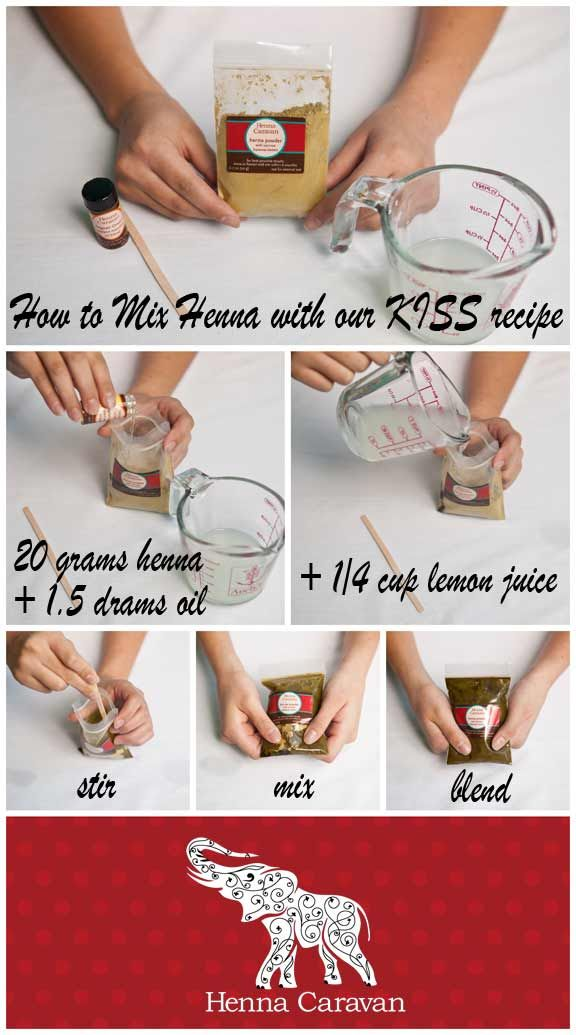 "Diy Henna Tattoo Ink Without Henna Powder: Henna Caravan Basic ""KISS Henna Recipe"" Great Results"