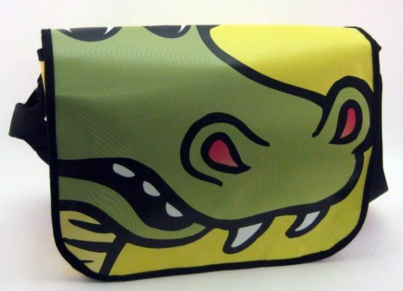 Recycled Billboard Messenger Bag by lisa990 on Etsy