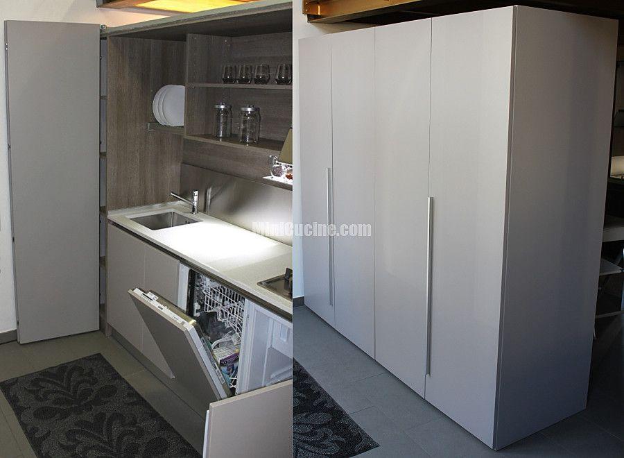 Cucine a scomparsa mini cucine monoblocco piccoli spazi - Cucine armadio a scomparsa ...