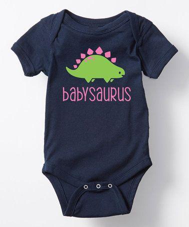 22b89e37ad72 This Navy  Babysaurus  Bodysuit - Infant is perfect!  zulilyfinds ...