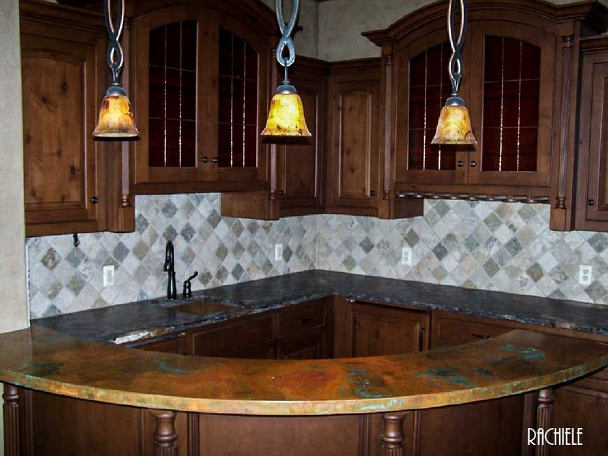Countertop · Copper Curved Bar ...