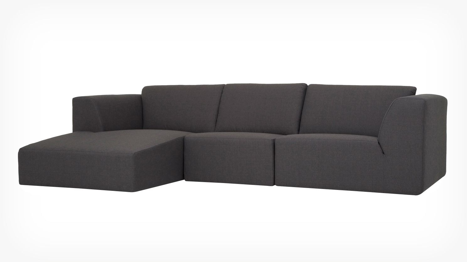 Morten 3 piece sectional sofa with chaise fabric eq3 for Sectional sofa eq3