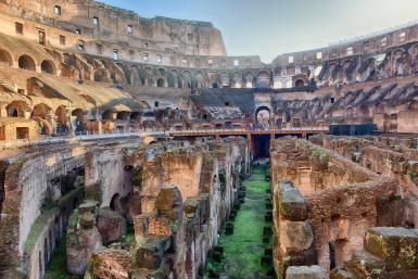 Interior of the Colosseum, Rome, Italy - Steve Whiston - Fallen Log Photography/Getty Images