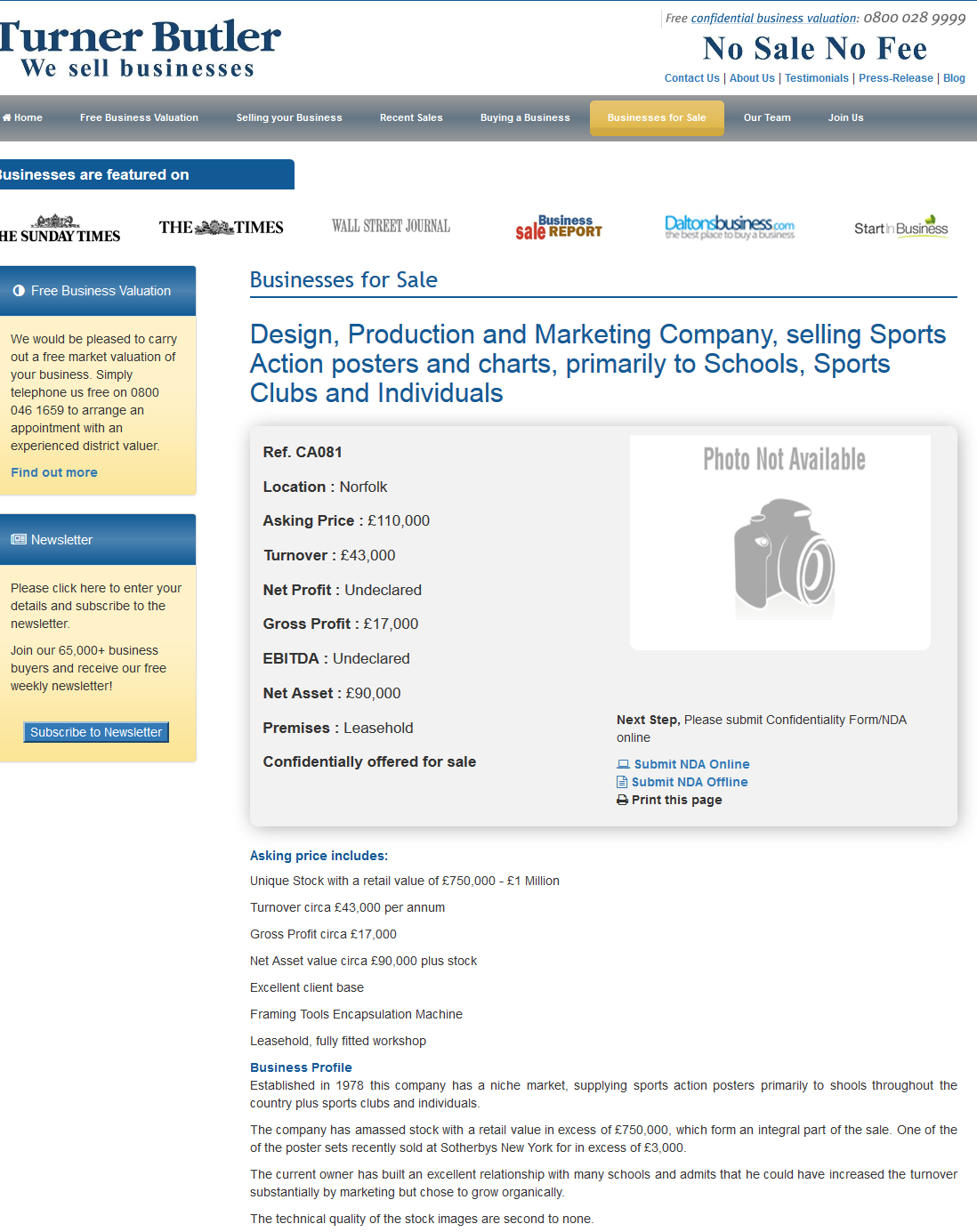 Businesses For Sale Design Production And Marketing Company