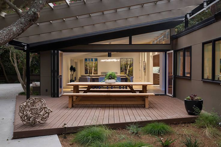 Mid-Century Modern Remodel in California Opens Up | Mid-century ...