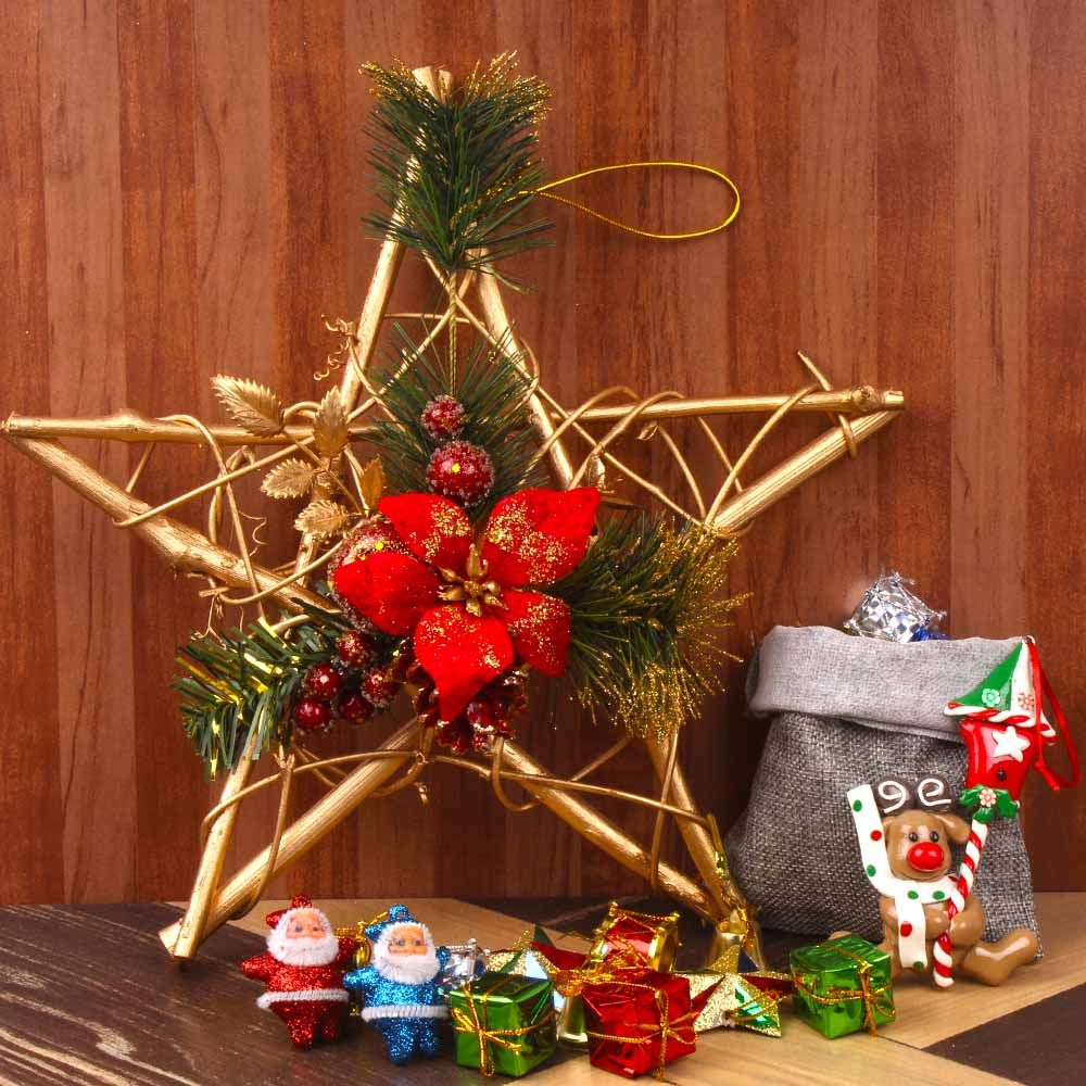 Send Christmas Gift Hampers Online Tajonline Christmas Tree Decorations Christmas Tree Shop Christmas Tree With Presents