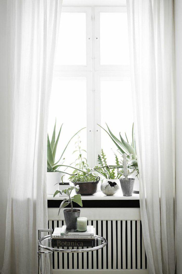 Heizkörperverkleidung Wohnzimmer Dekoration Fensterbank Holzgitter