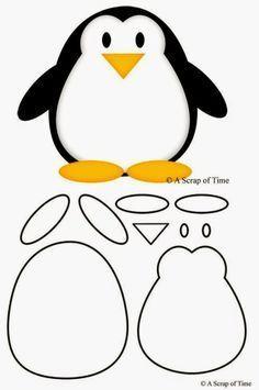 moldes de pinguinos en goma eva  Buscar con Google  educativo