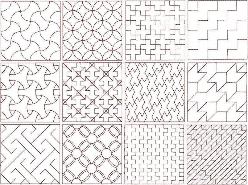 Sashiko Different PatternsHandwerkwereld SASHIKO Pinterest Gorgeous Different Patterns