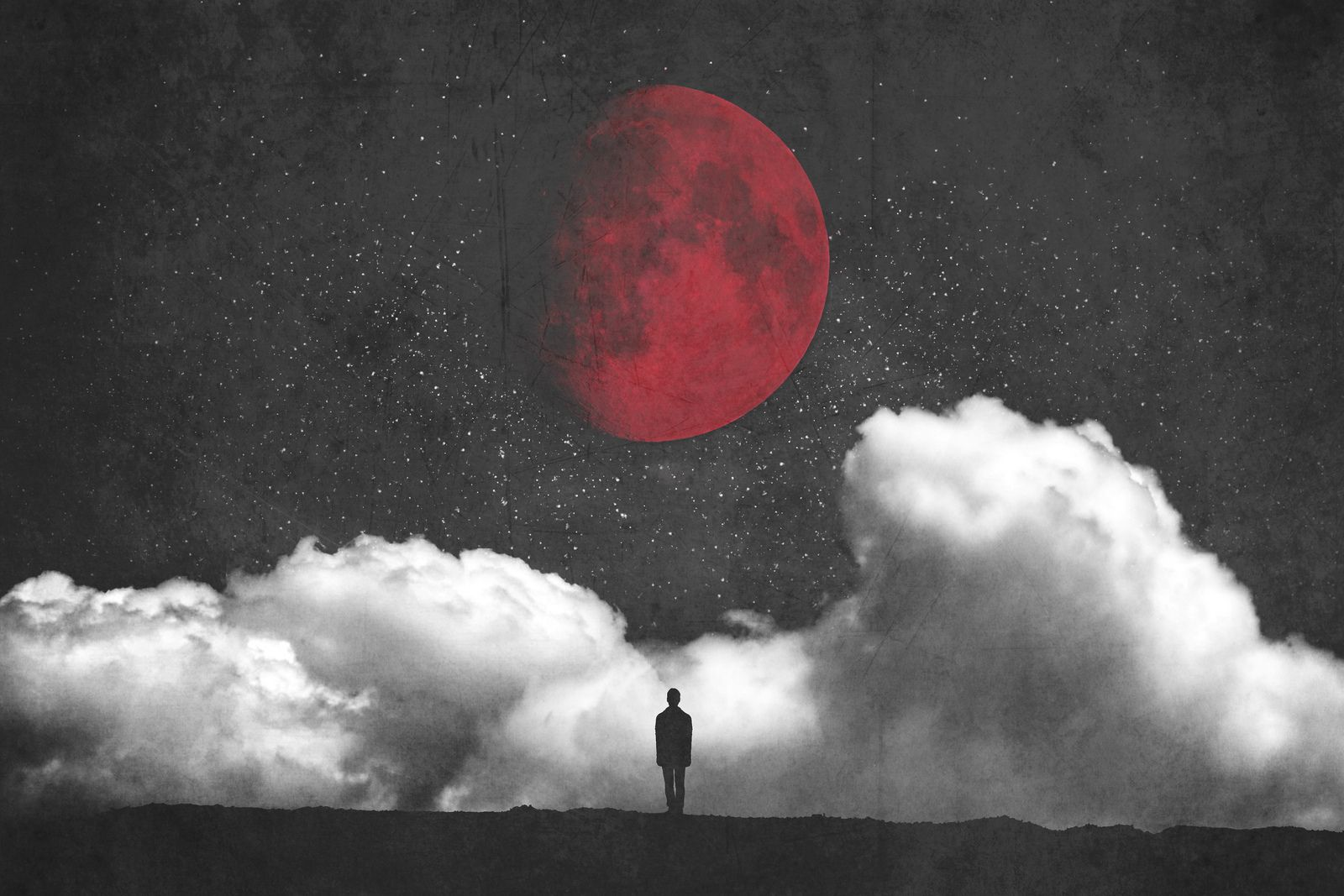 Red Moon | Daily Diary Dilemma |Red Moon Artwork