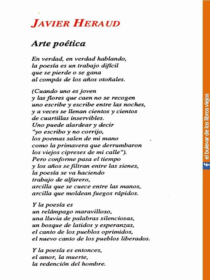 Javier Heraud Poems Words Poetry