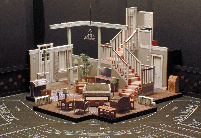 "1/4"" = 1'0"" Scale Model Set design theatre, Tv set"