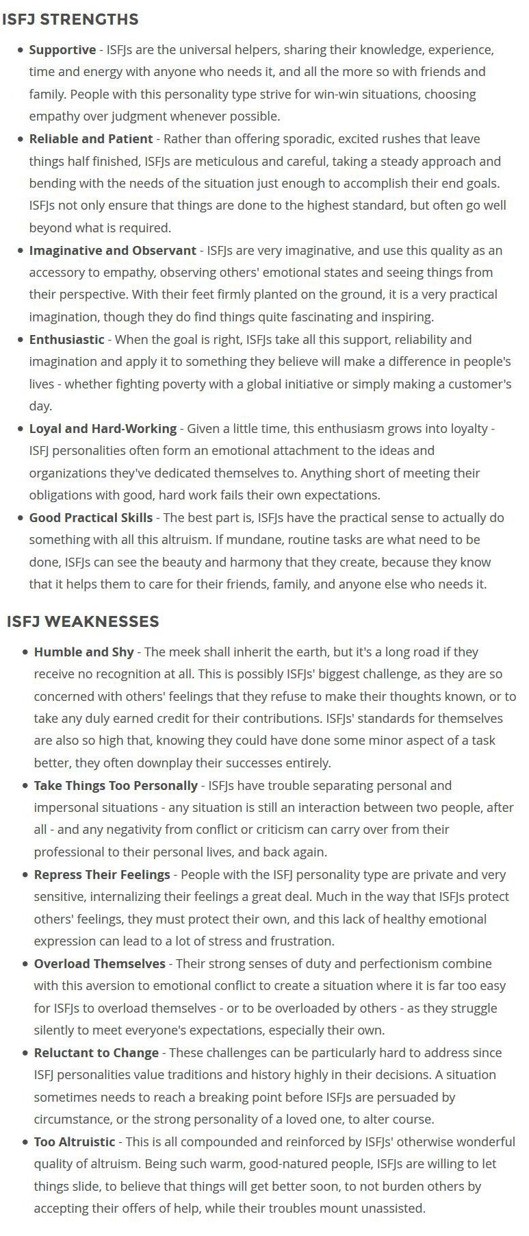 isfj strengths weaknesses born into as strength isfj strengths weaknesses