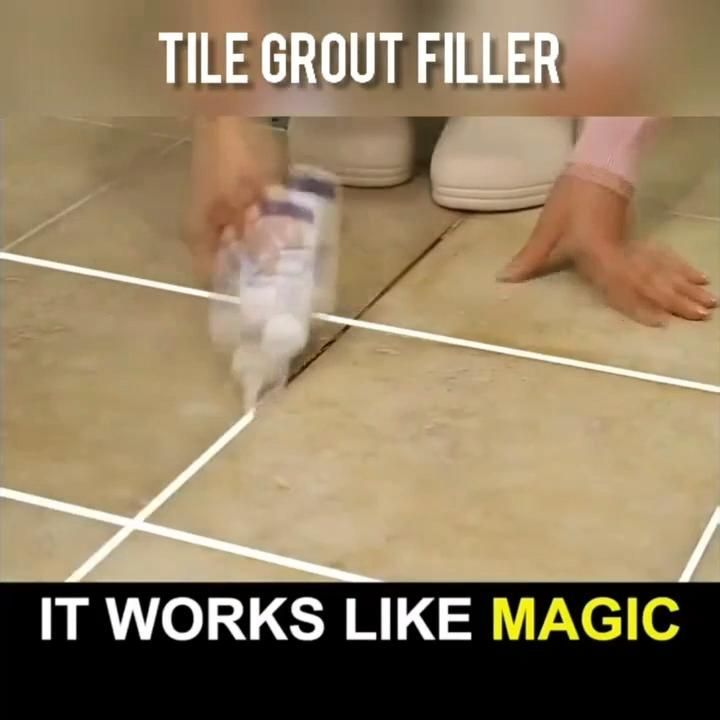 Restore Old Tiles Without Spending A Ton Of Money The Tile Gap Filler Is The Perfect Solution To Res In 2020 Grout Cleaning Diy Cleaning Hacks Bathroom Cleaning Hacks