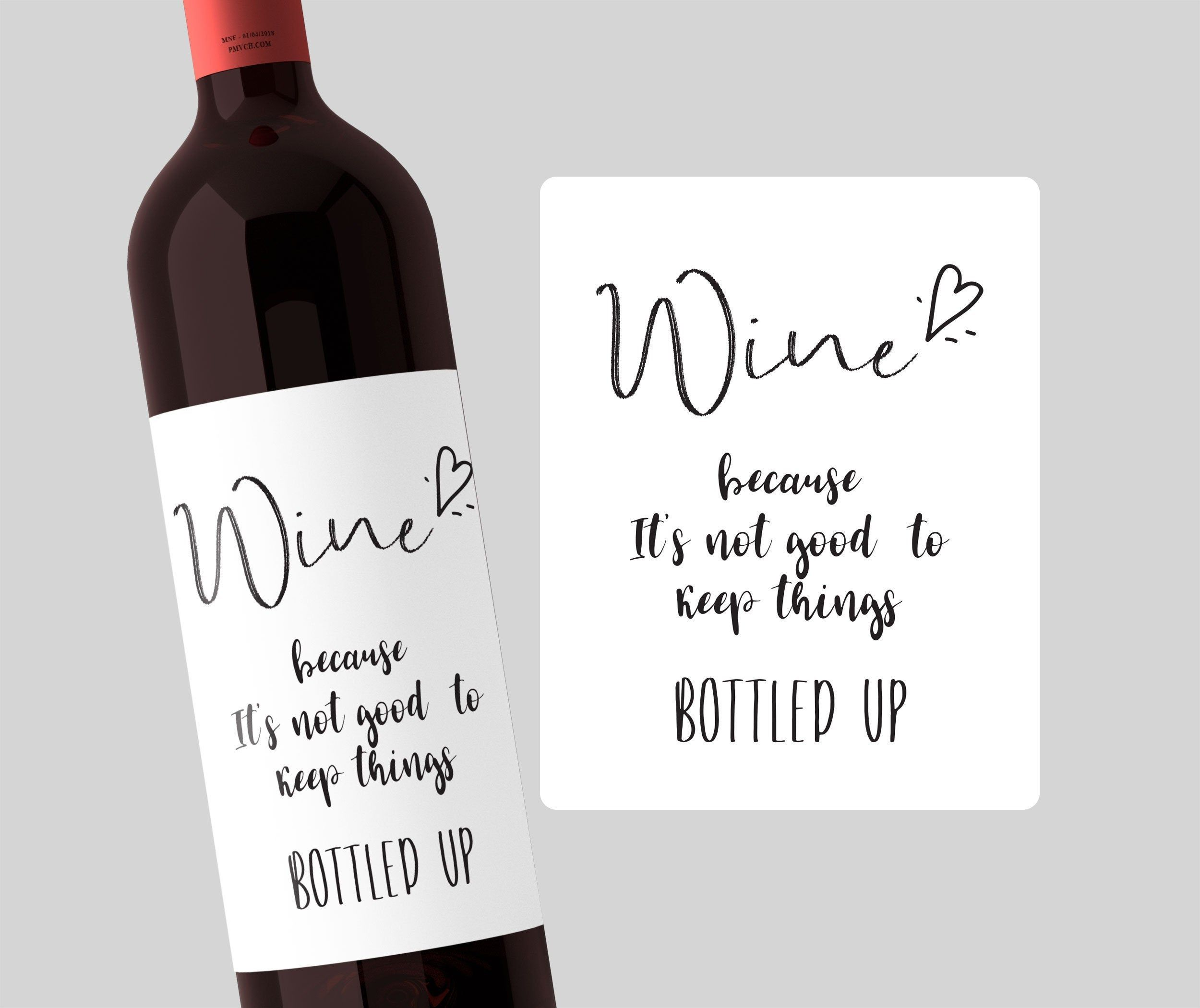 Funny Wine Label Wine because It's not good to keep Etsy