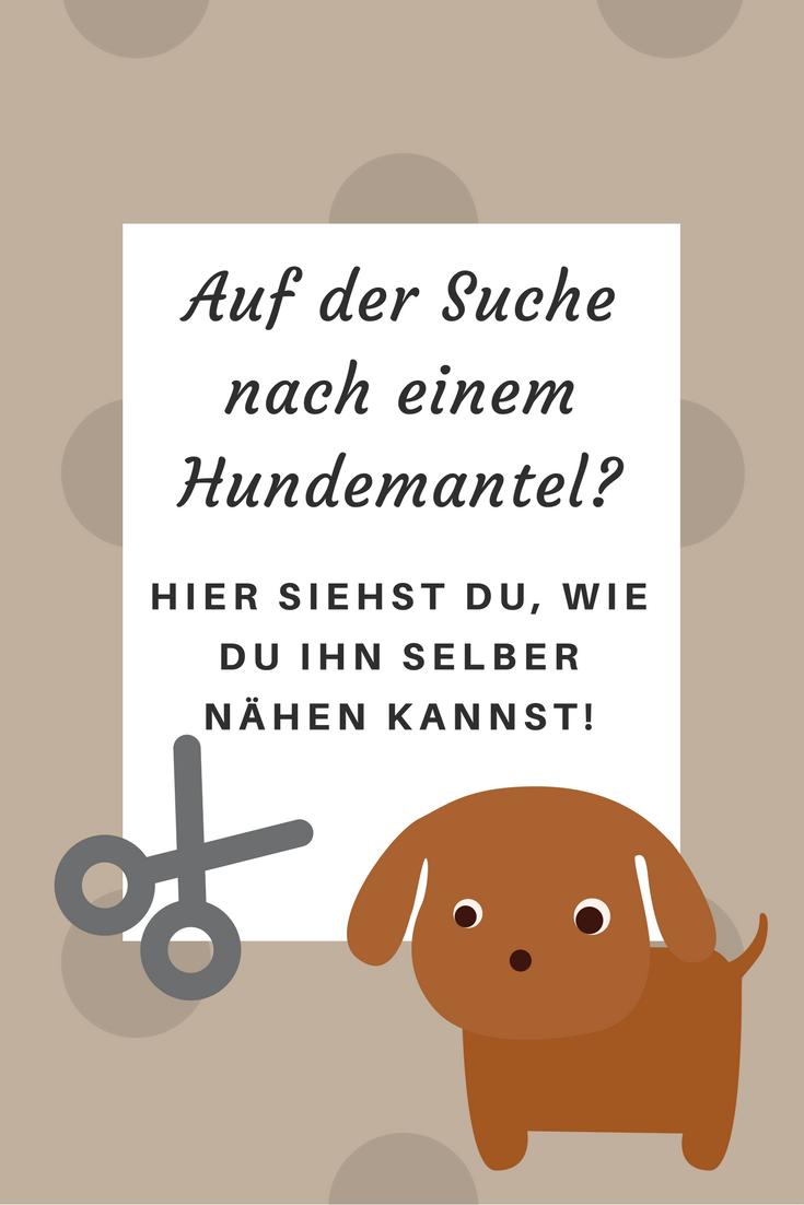 Do it yourself Hundemantel . | clothes | Pinterest | Dog