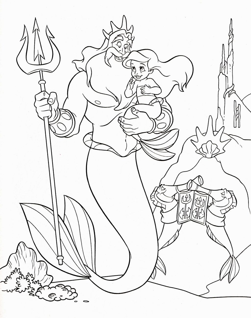 Ariel The Little Mermaid Coloring Pages Coloring Pages