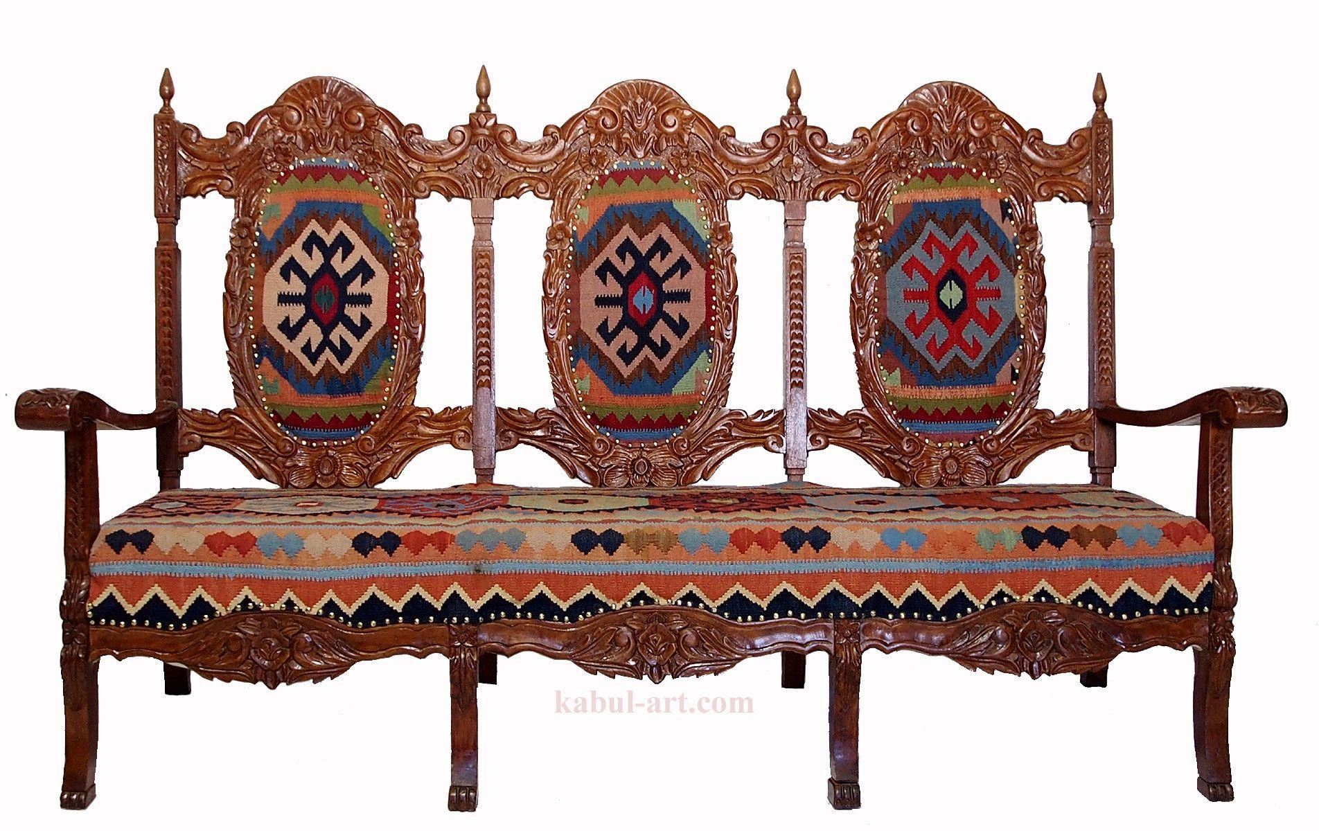 luxuriöse orient kelim Sessel sofa couch 3 seater kilim chair