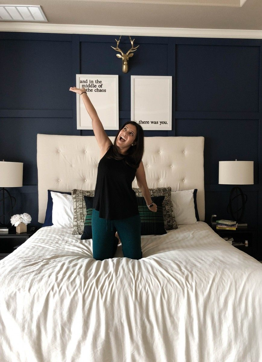 DIY Accent Wall for under 100 Accent wall bedroom, Home