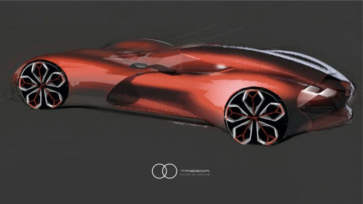 Renault Trezor Concept Design Sketch Render By Yann Jarsalle With