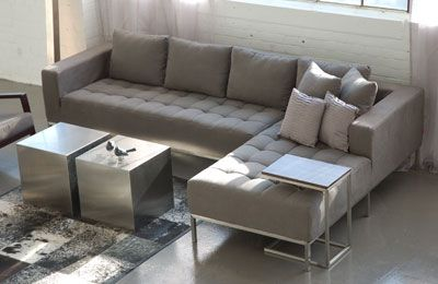 a sophisticated modern sectional exists