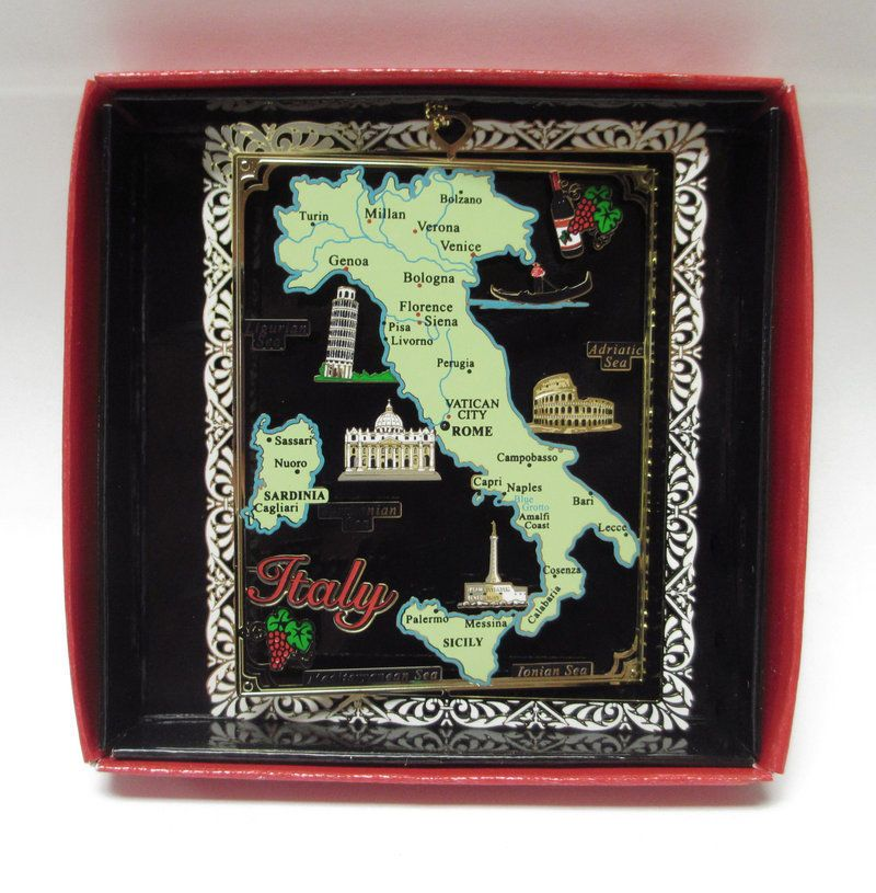 Vatican Christmas Ornaments Part - 18: 12 Italy Brass Christmas Ornaments Gift Family Reunion Momento Travel Groups