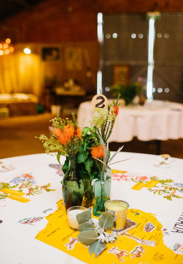 KALI + DAN   #australiana #reception #tablesetting #yellow #green