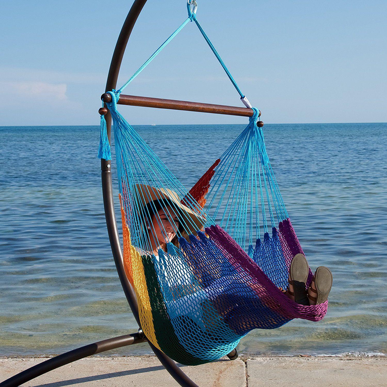 Amazon caribbean hammock chair with footrest inch c