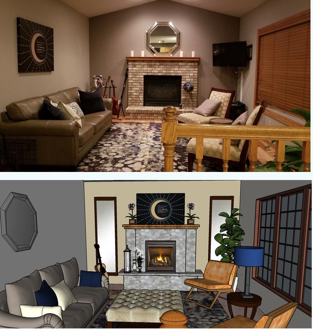 Sketchup Home Design: SketchUp Living Room Design