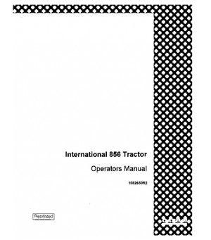 CASE IH INTERNATIONAL 856 TRACTOR OPERATORS MANUAL